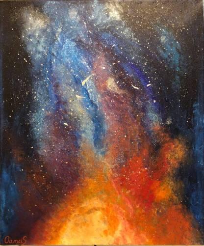 GALAXIE - pictură, acrilic pe pânză
