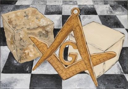 PIATRĂ - pictură, acrilic pe pânză