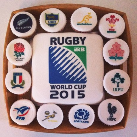 2015 Rugby World Cup cake and cupcakes