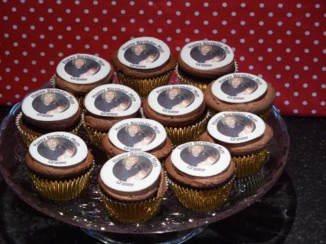Birthday Photo Cupcakes