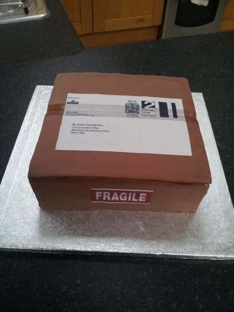 Mailing Box Cake