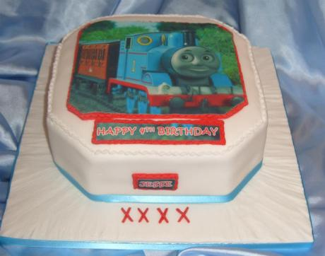 Thomas the Tank Engine 4th Birthday cake