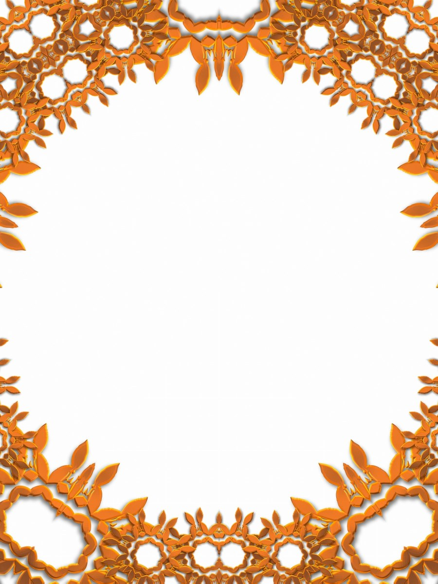 Abstract frame border copper