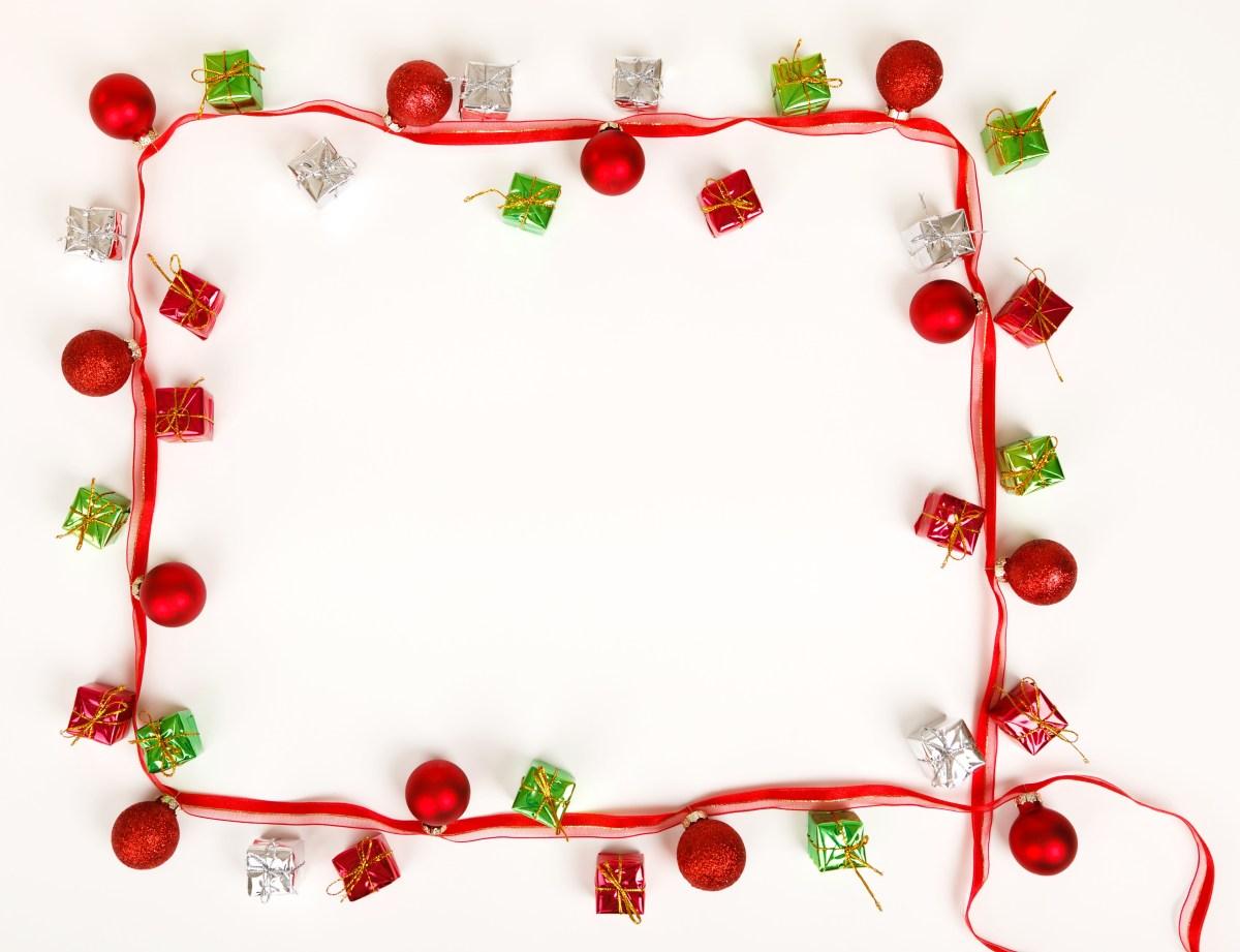 Christmas frame border