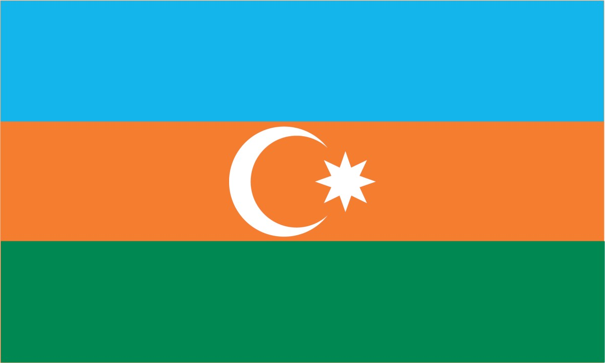 Country flag of Azerbaijan