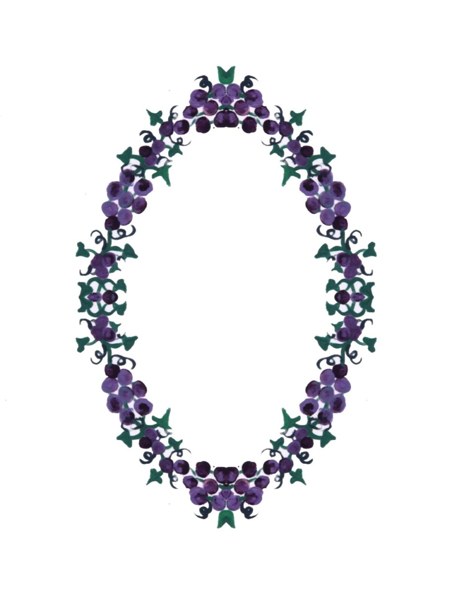 Grapes frame border