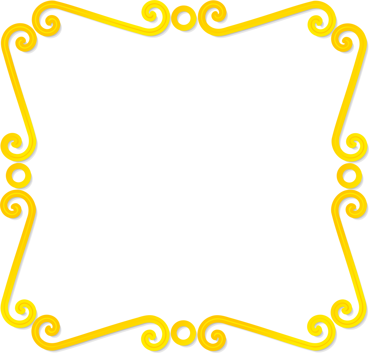 Yellow certificate frame border