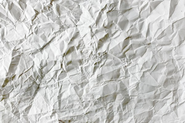 Crumpled paper background photo