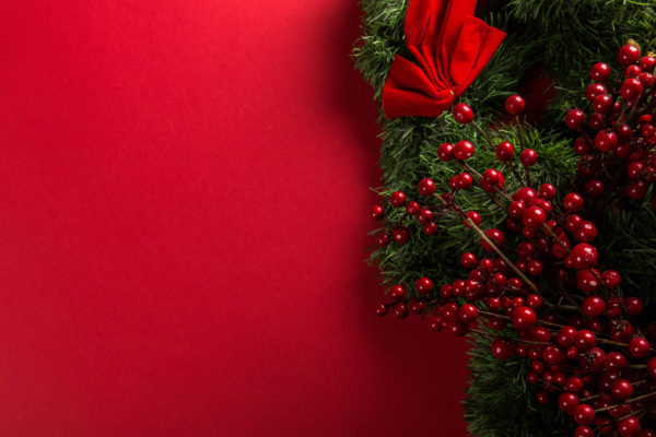 Red christmas background card