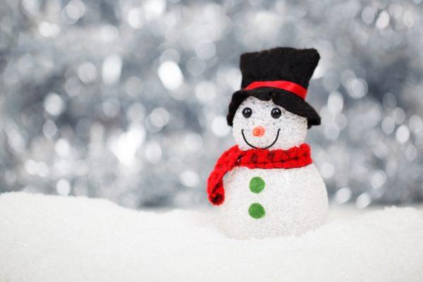 Snow man christmas photo