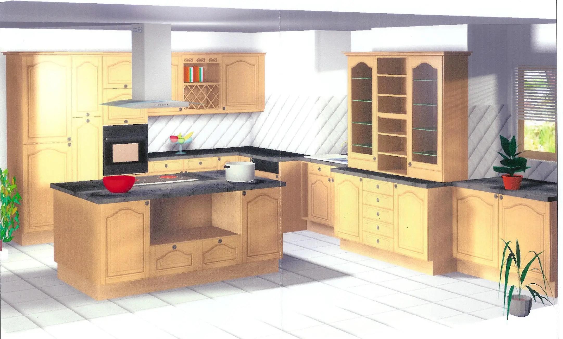 modele cuisine avec ilot bar