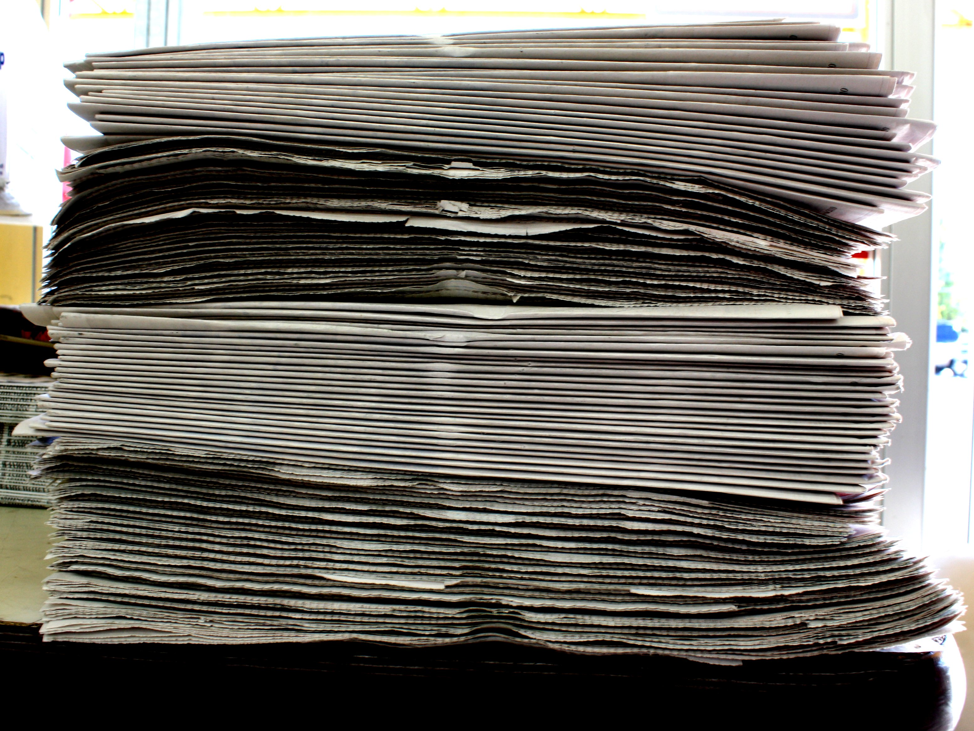 Stack of Newspapers Picture  Free Photograph  Photos