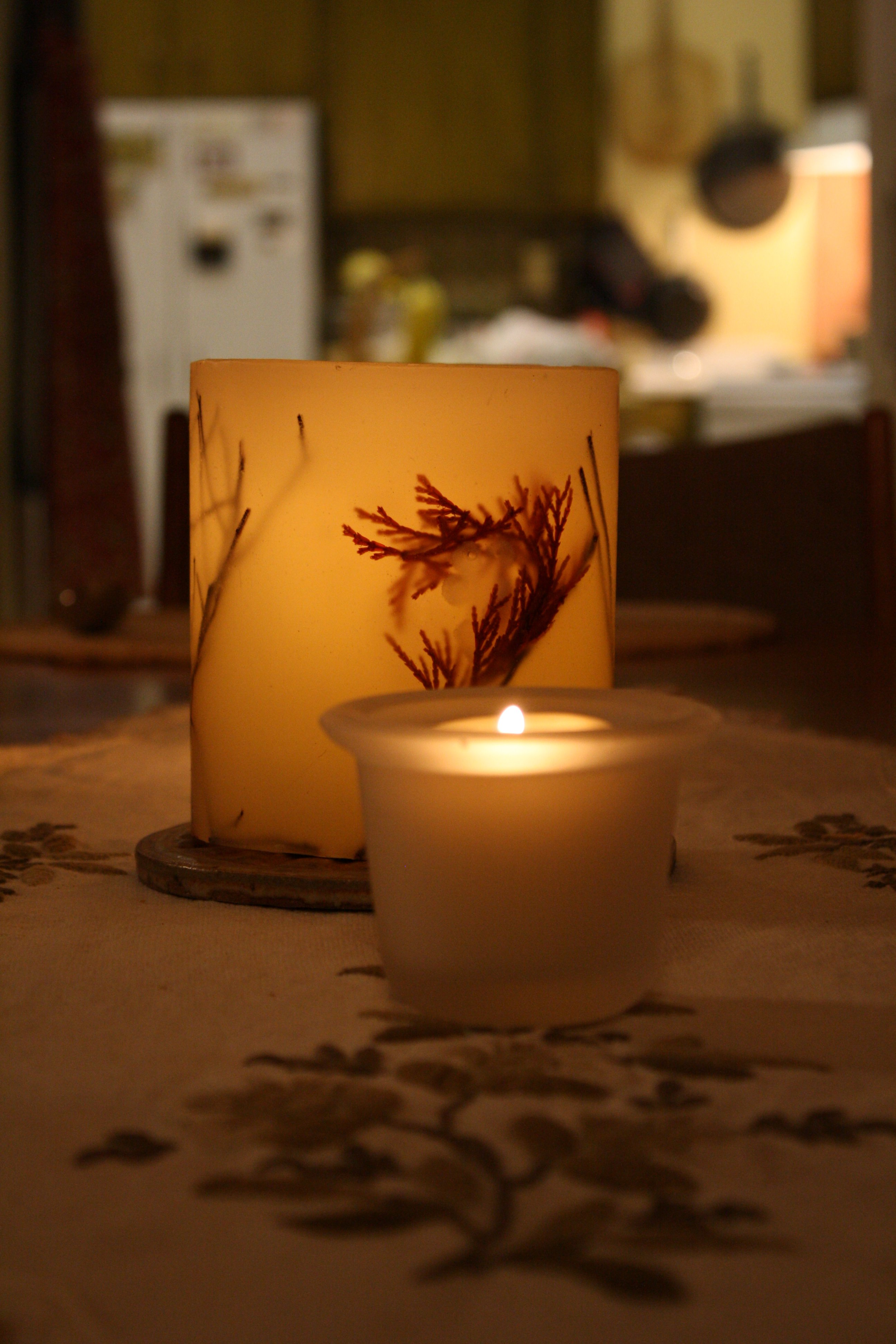 Candles On Dinner Table Picture Free Photograph Photos