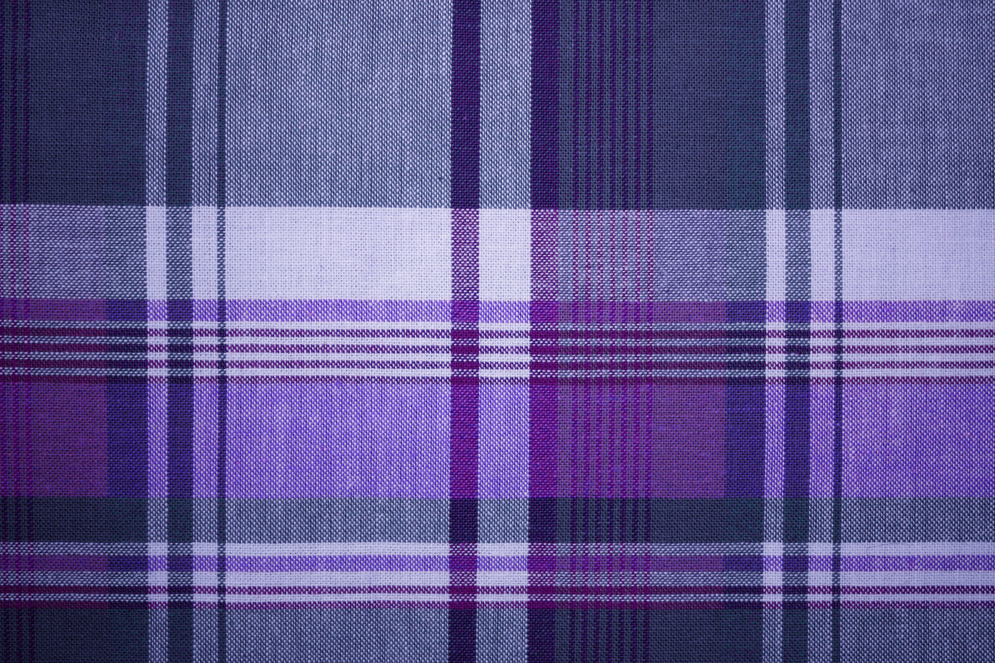 Purple And Blue Plaid Fabric Texture Picture