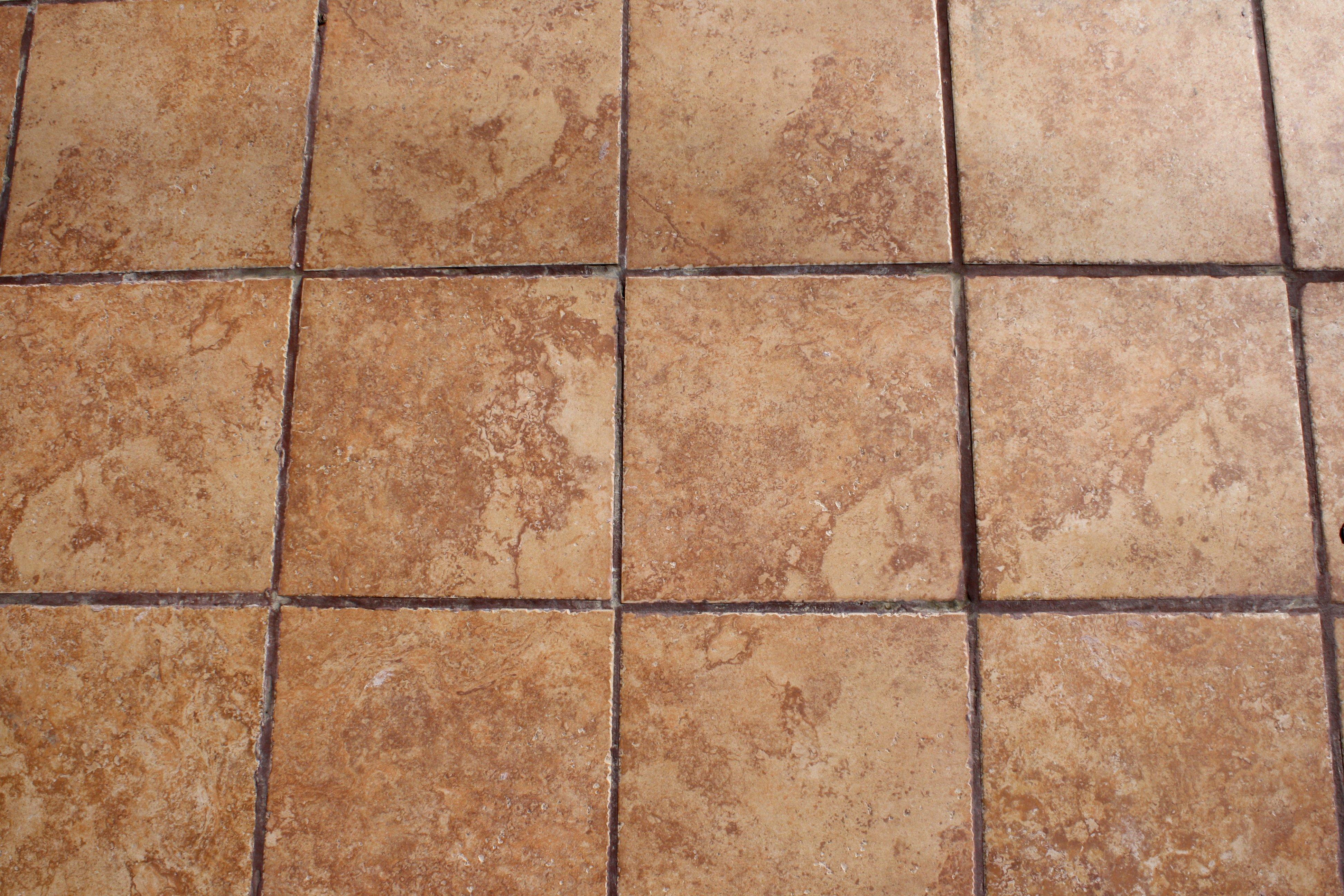 light brown floor tiles