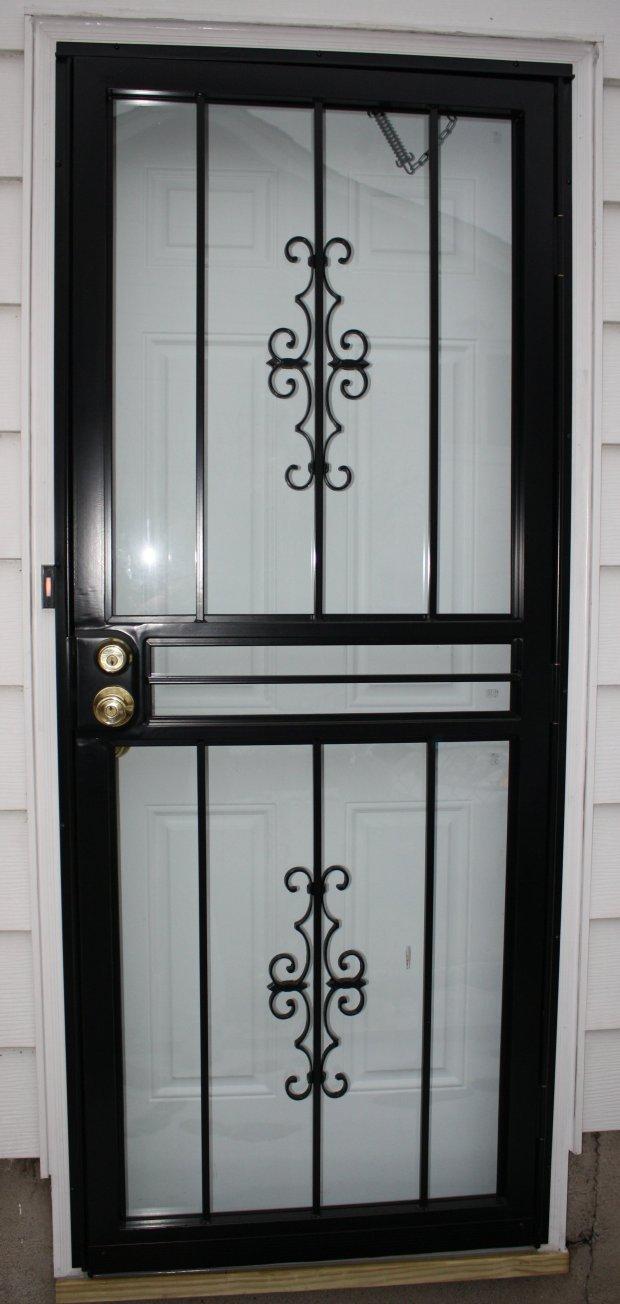 Wrought Iron Storm Door Home Design Ideas
