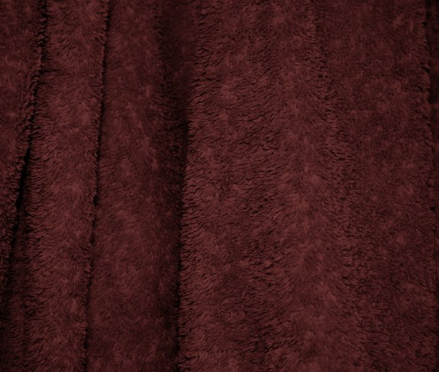 Maroon Terry Cloth Bath Towel Texture