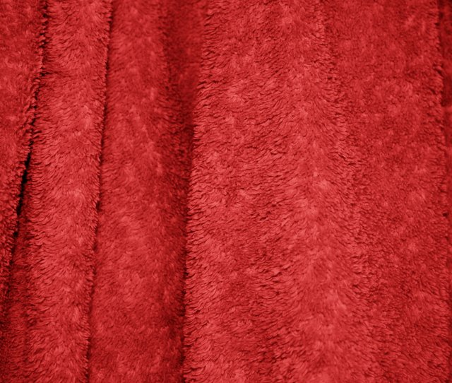 Red Terry Cloth Bath Towel Texture