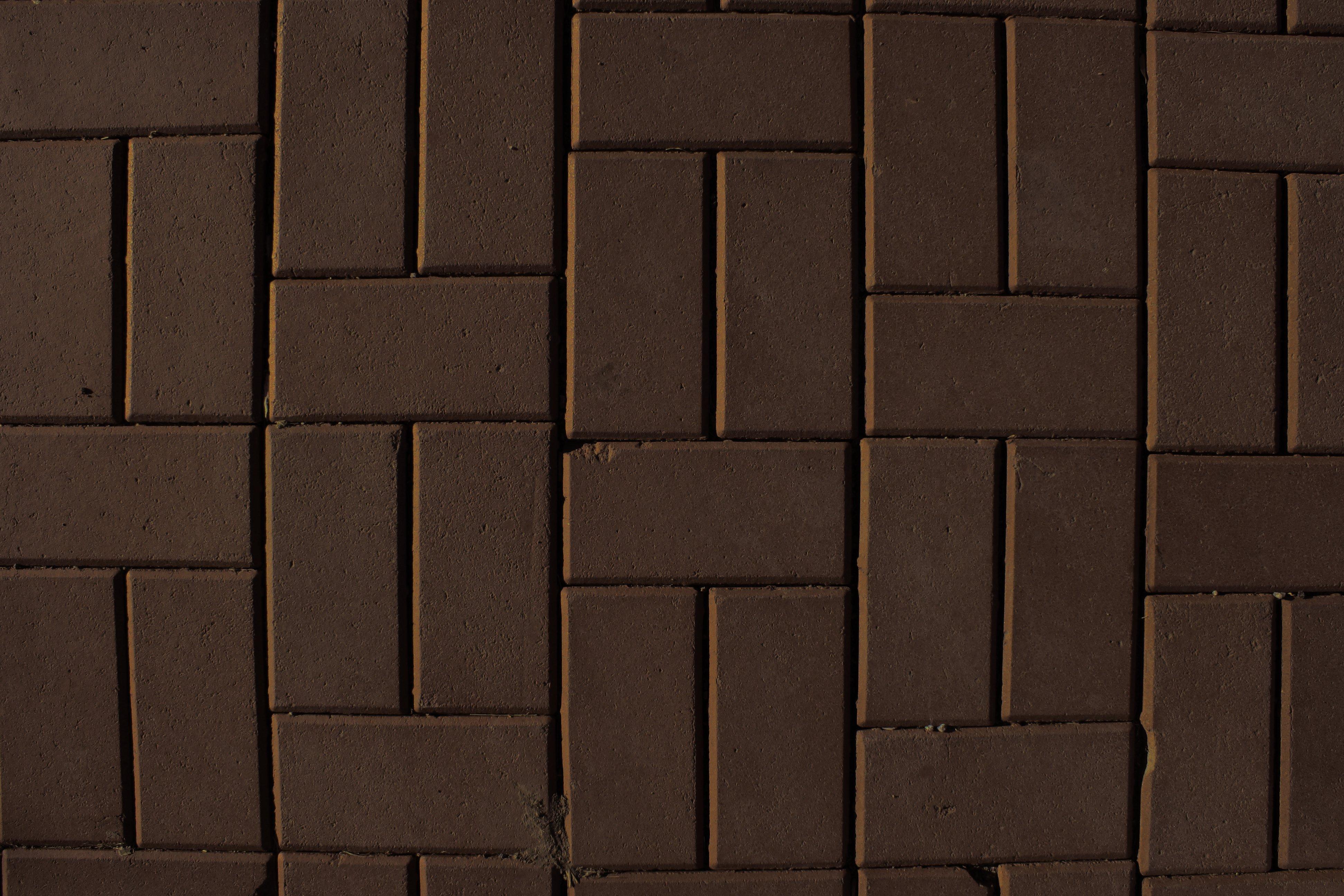 brown brick pavers sidewalk