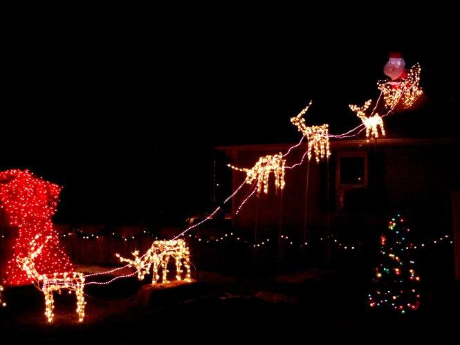Decorative Christmas Sleigh Decoration Fibregl Santa