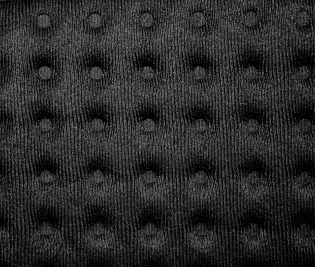 Black Tufted Fabric Texture