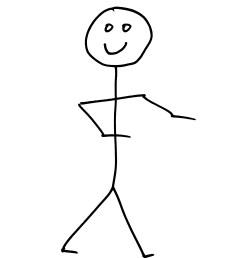 smiling stick figure person free high resolution clipart [ 3600 x 4500 Pixel ]