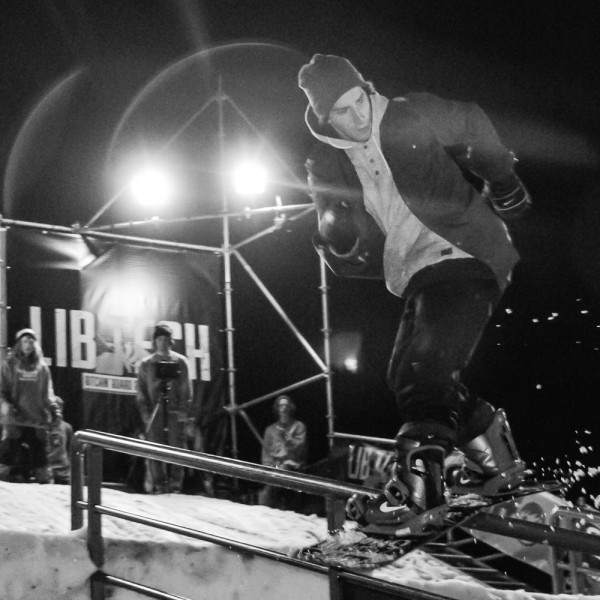 Ethan Morgan riding the rail
