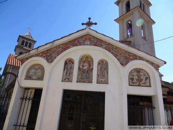 детали на старата црква во Поградец (Албанија)