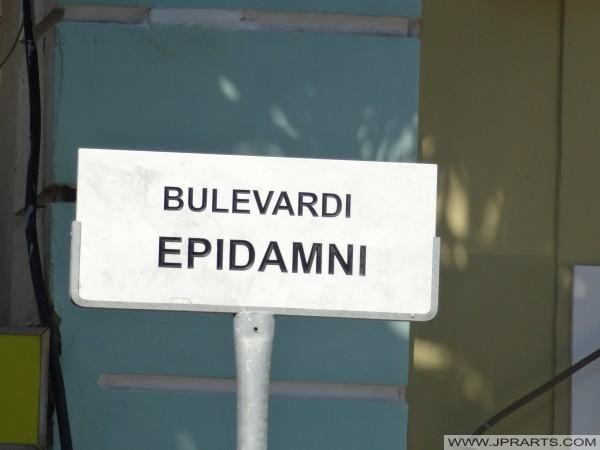 Bulevardi Epidamni in Durrës, Albanië
