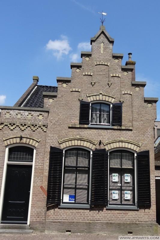 régi ház a Kloosterstraat Assen, Hollandia