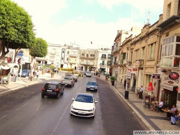 Streetview of Mosta, Malta