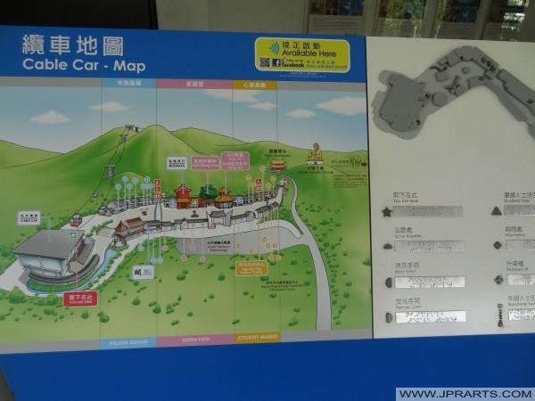 缆车地图(昂坪360香港)