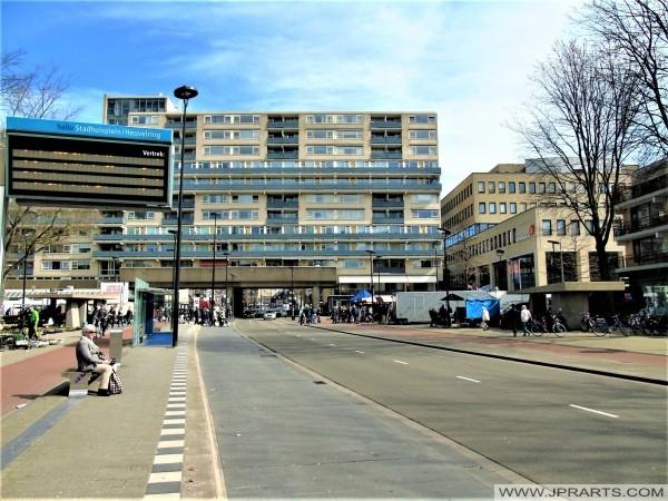Bus Station Stadhuisplein - Heuvelring in Tilburg, The Netherlands