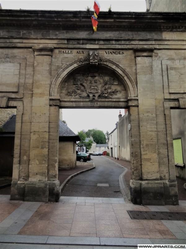 Façade de l'Ancienne Halle aux Viandes à Bayeux, France