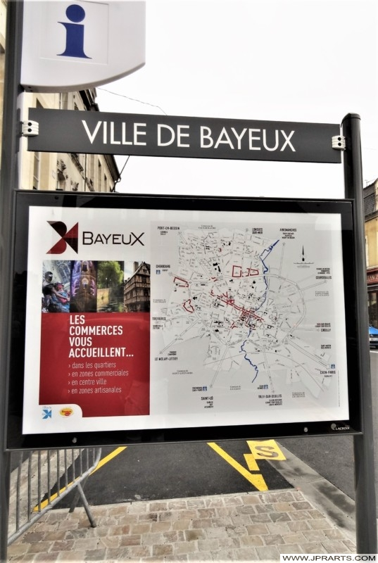 Carte de Bayeux, France