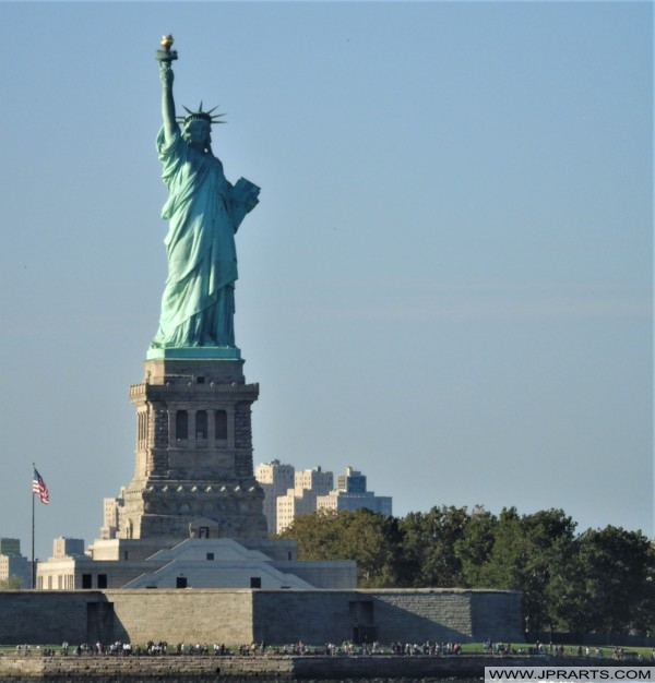 Statue of Liberty View from Staten Island Ferry (New York, USA)