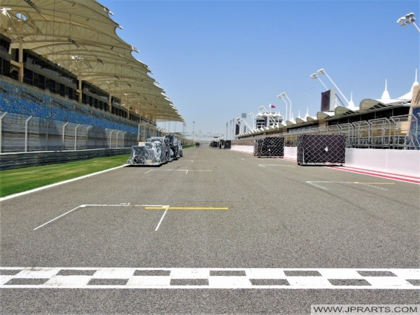 Start and Finish Line of the Bahrain Formula One Circuit