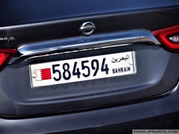 لوحة ترخيص البحرين