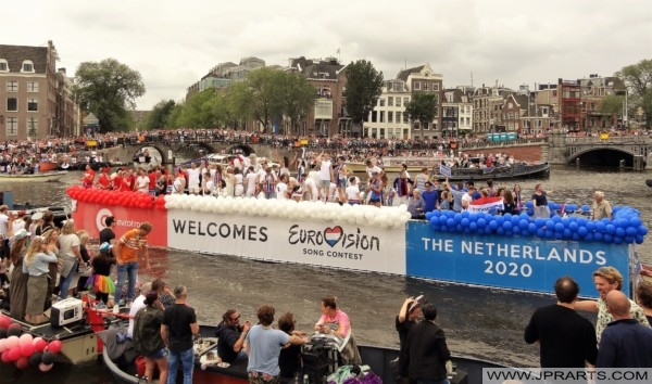 Eurovision Song Contest during the Pride Amsterdam 2019