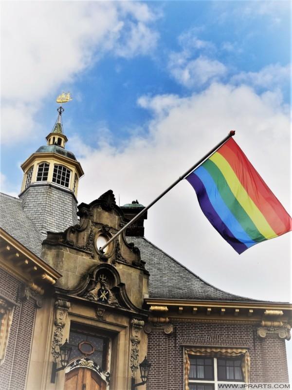 Rainbow Flag in Zandvoort, The Netherlands