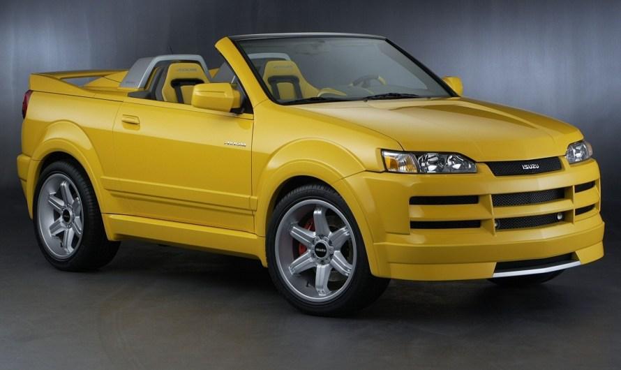 Isuzu Axiom XSR Sport Roadster 2002 – Le XSR est l'un des trois véhicules conceptuels Isuzu