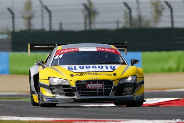 2014 GT Tour Magny-Cours Audi R8 LMS Ultra N°44
