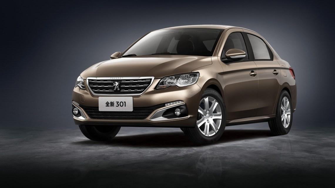 Peugeot 301 2017 restylée. La 301 est destiné aux pays émergents