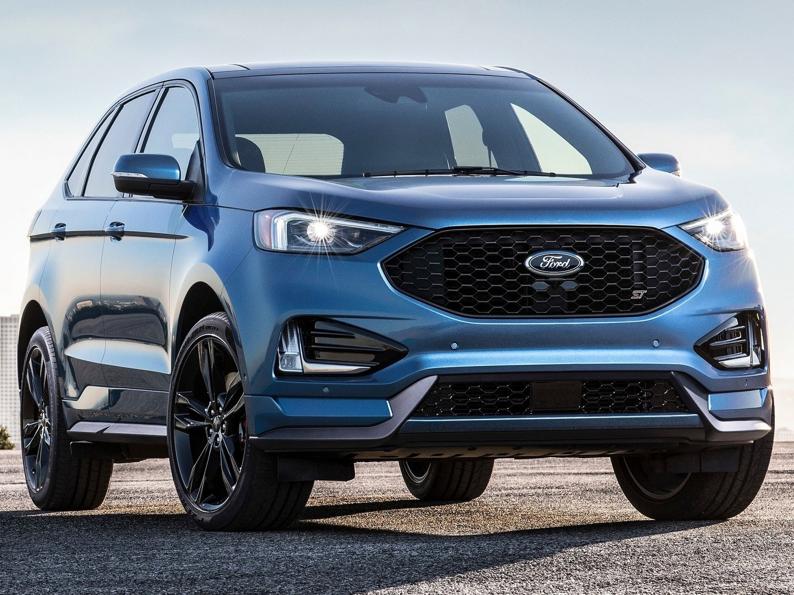 le nouveau ford edge st 2019 d voil detroit auto show. Black Bedroom Furniture Sets. Home Design Ideas