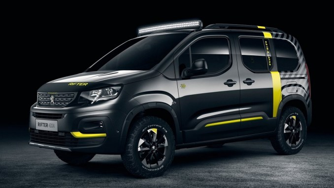 peugeot rifter 4x4 2018 est transform en un concept tout terrain. Black Bedroom Furniture Sets. Home Design Ideas