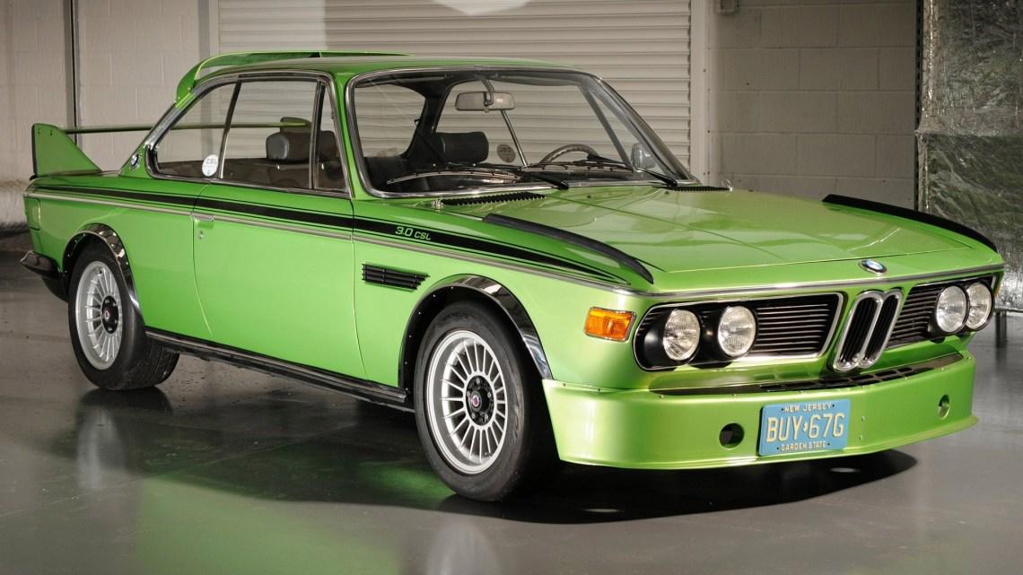 BMW 3-0 CSL E9 1971 – Connue sous le nom de «Batmobile».