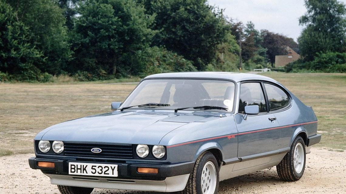 Ford Capri coupé construit par Ford Motor Company entre 1968 et 1986