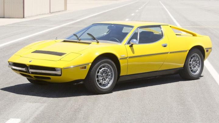 Maserati Merak produite de 1971 à 1983 – Le style est dérivé de la Bora