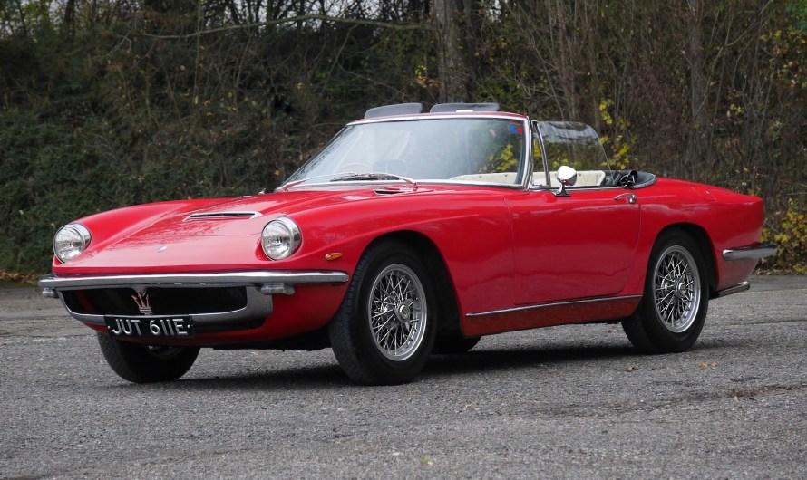 Maserati Mistral 3500 Spider 1965 a succédé à l'emblématique 3500 GT