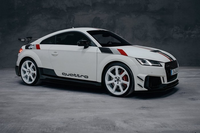 Audi TT RS 40 years of quattro Edition 2020 – Peinte en blanc alpin